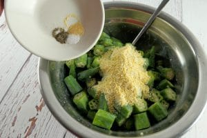 Okra with Corn Meal