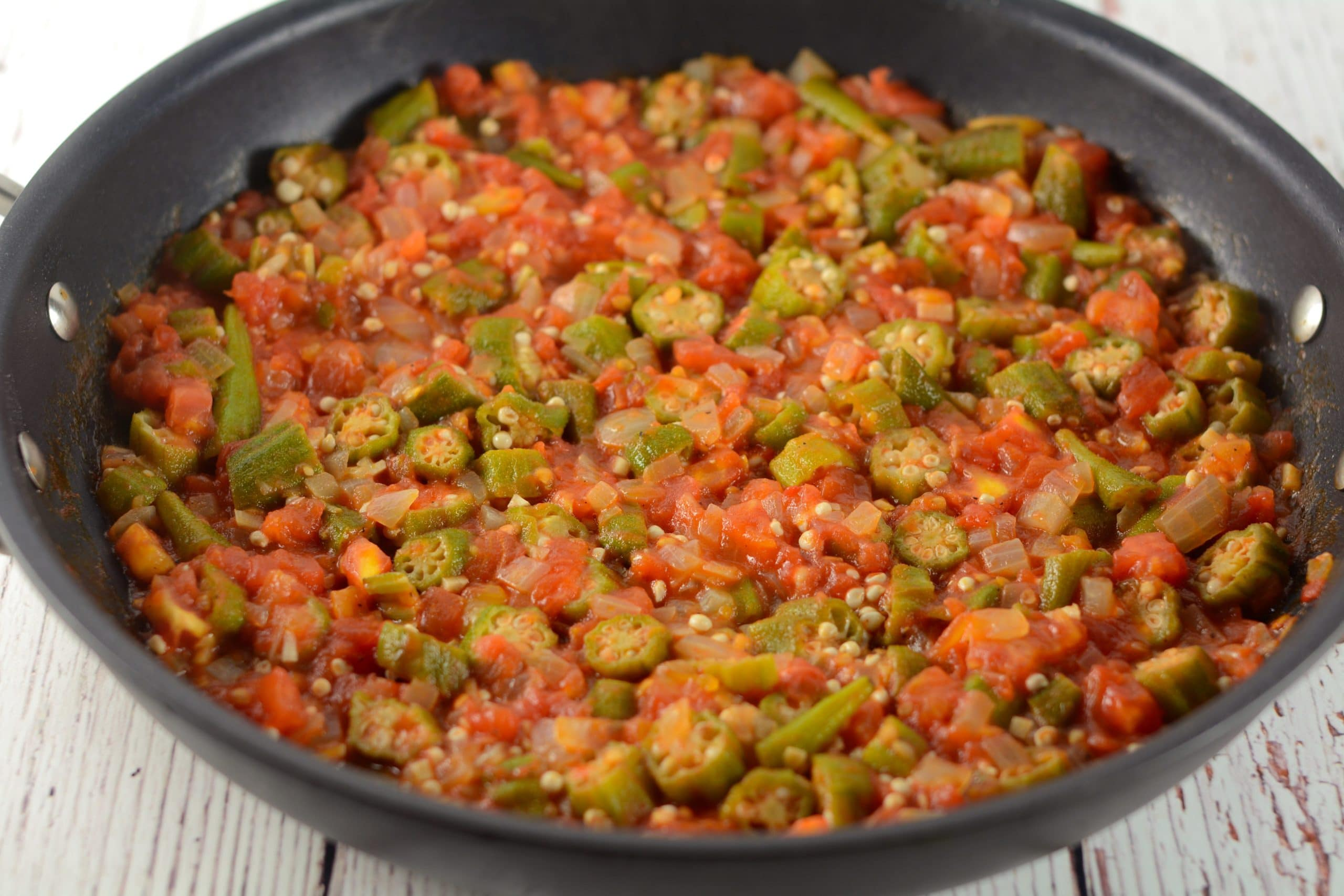 Smothered Okra and Tomatoes