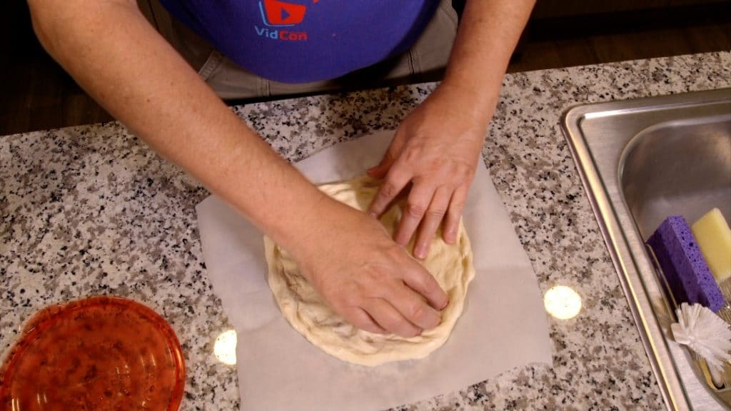 Shaping Pizza Dough