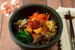 Bibimbap made with gosari