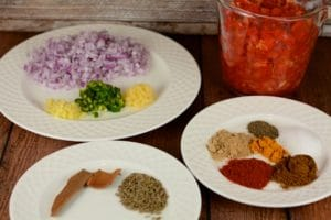 Ingredients for Rajma