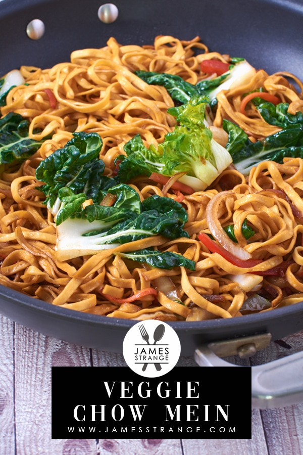 Vegetable Chow Mein, this is a pin for Pinterest