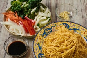 Veggie Chow Mien Ingredients