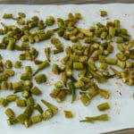 Roasted sheet pan okra 🥄